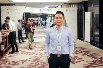 Student of School of Economics & Business Administration attends the Microsoft's premier technology showcase, Future Now Vietnam in Ha Noi