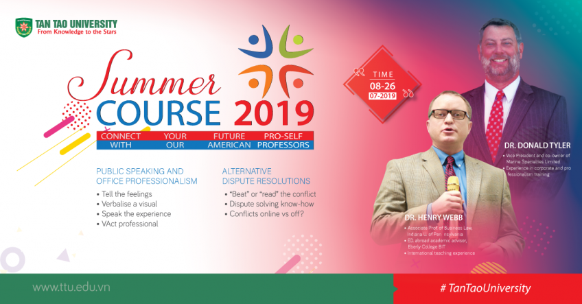 Summer Course 2019 at Tan Tao University